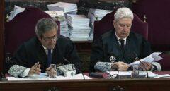 Los fiscales Zaragoza y Cadena, en el Supremo.