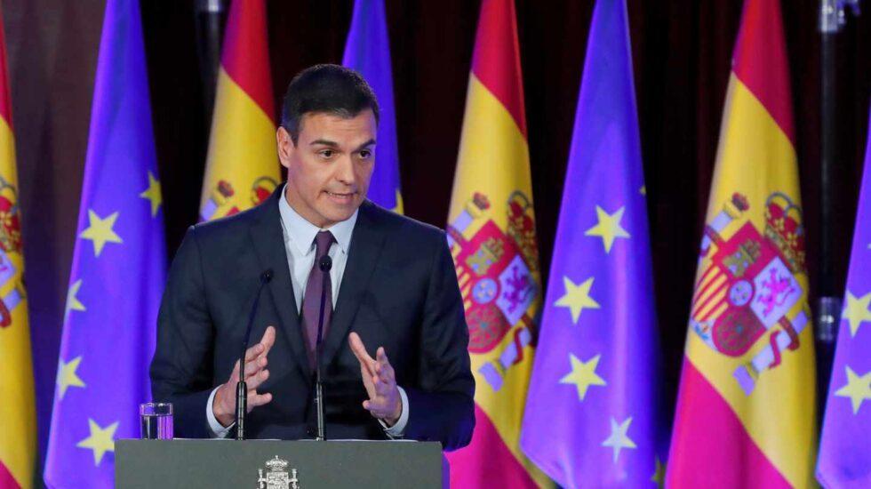 Conferencia de Pedro Sánchez en el Ateneo de Madrid.
