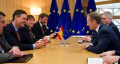 Pedro Sánchez y Donald Tusk, reunidos en Bruselas.