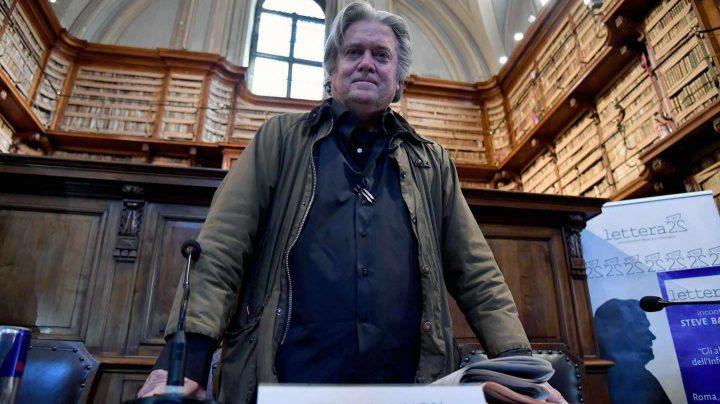 Steve Bannon, en un acto en Roma.