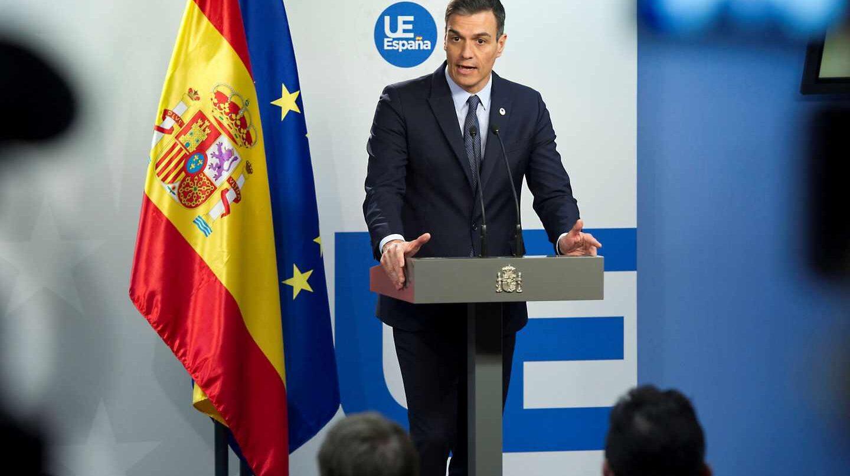 Pedro Sánchez, tras la cumbre en Bruselas.