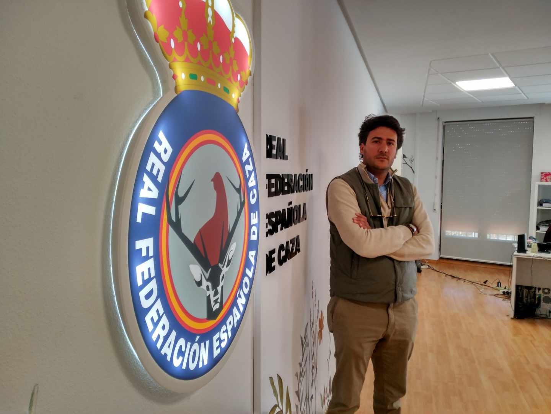 Ángel López Maraver, este jueves en la sede de la Federación Española de Caza.