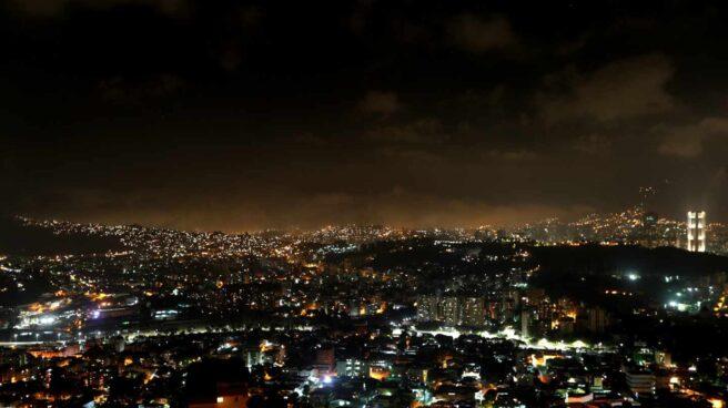Caracas en la oscuridad.