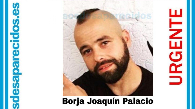 Cartel distribuido por la desaparición de Borja Joaquín Palacio