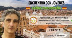 Cartel original del encuentro organizado por Vox Cuenca