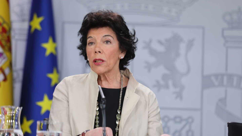 Isabel Celaá, portavoz del Gobierno.