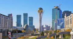 Centro económico y turístico de Astaná, ahora Nursultan, capital de Kazajistán.