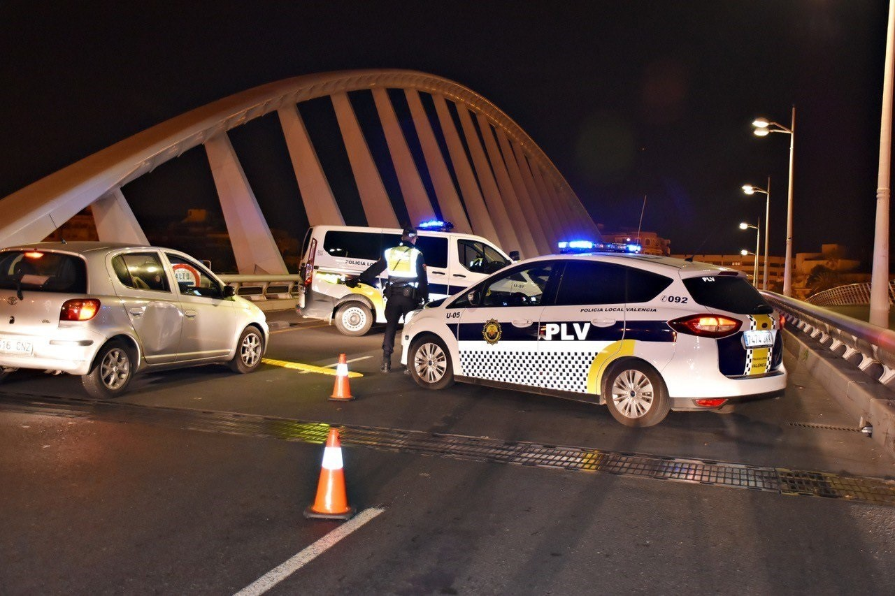 Control de la Policía Local en Valencia
