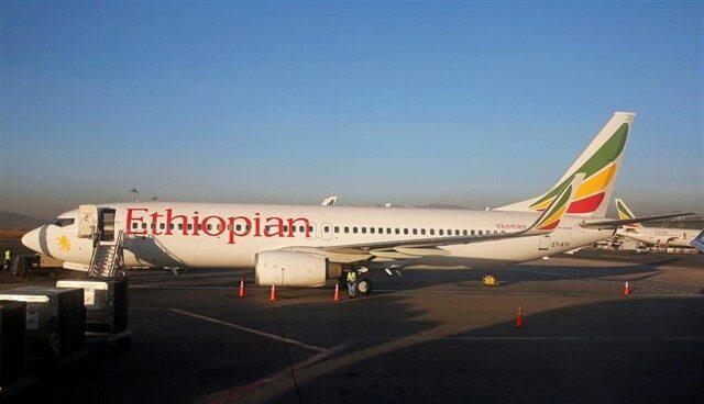 Avión de las líneas aéreas de Etiopía.