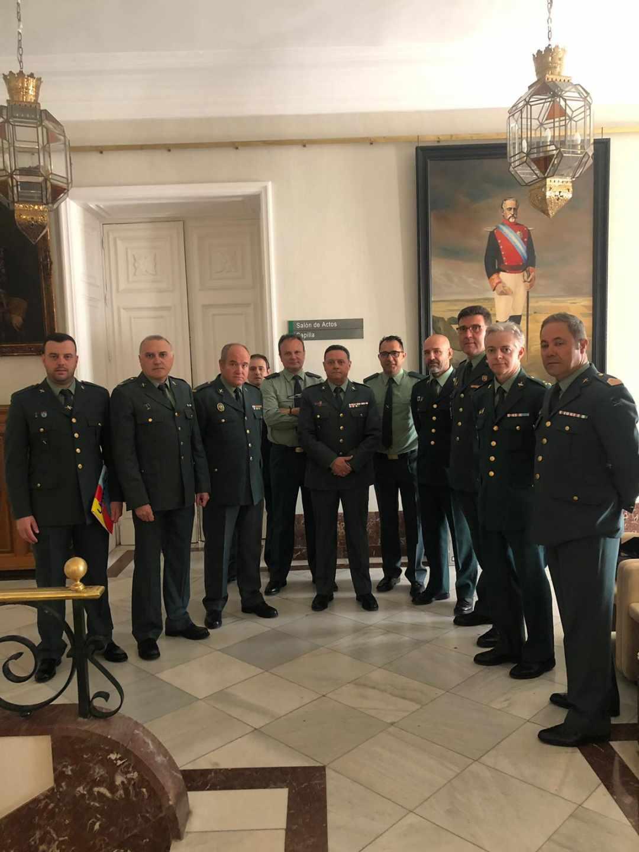 Representantes de las asociaciones de Guardia Civiles en el Ministerio del Interior.