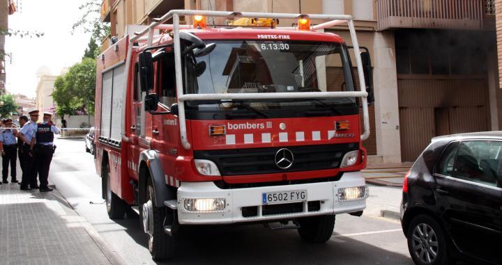 Imagen de archivo de un camión de bomberos de Barcelona