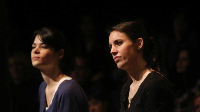 Isabel Serra e Irene Montero, en un acto de Podemos.
