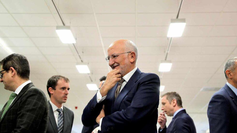 Juan Roig, junto a su equipo directivo, en la presentación de los resultados de Mercadona.
