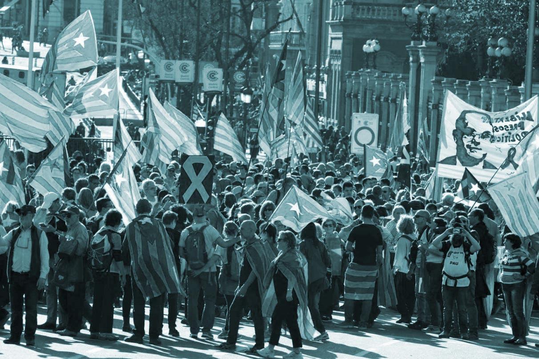 Manifestación independentista en Madrid.