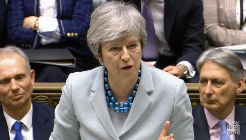 La primera ministra británica, Theresa May, este lunes en Westminster.