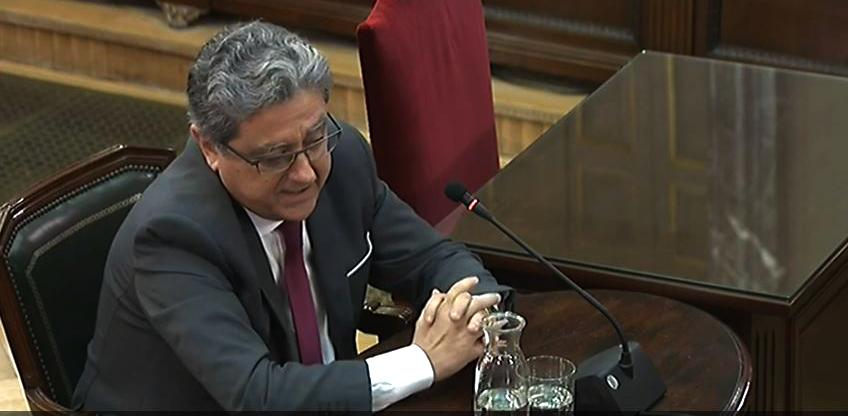 Enric Millo, ex delegado del Gobierno en Cataluña, durante su declaración ante el Tribunal Supremo.