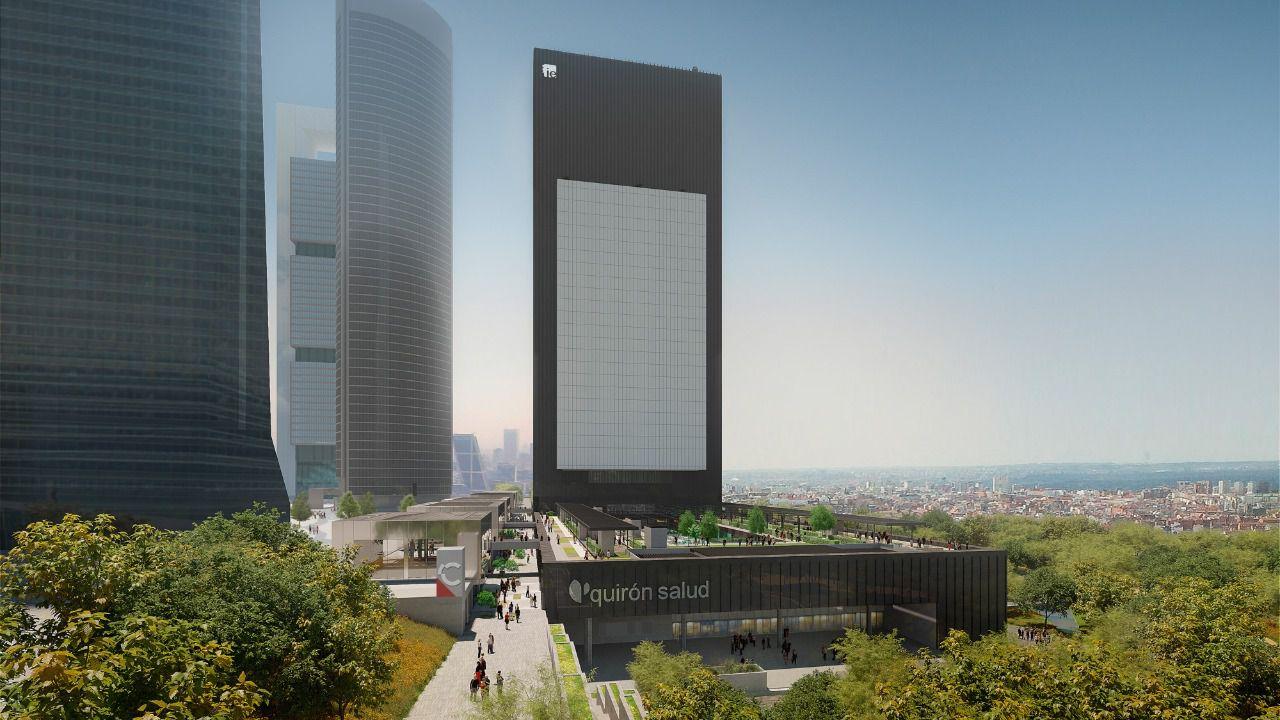 Recreación del quinto rascacielos en el Paseo de la Castellana