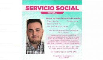 Cartel del mexicano desaparecido Vicente de Jesús Hermosillo.