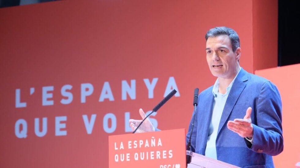 Pedro Sánchez, en un acto del PSC en Tarragona.