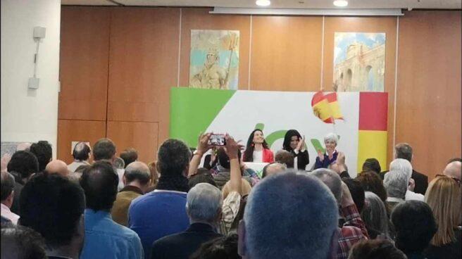 Rocío Monasterio, en el acto de Vox en Móstoles.