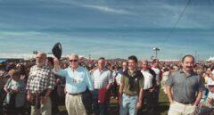 Xabier Arzalluz e Iñigo Urkullu durante la celebración del 'Alderdi Eguna' (Día del partido).