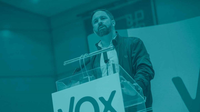 Santiago Abascal, en el acto de Vox en Ciudad Real.