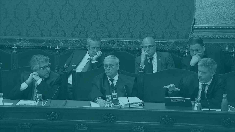 Jordi Pina, Javier Melero y Andreu Van Den Eynde, en el Tribunal Supremo.
