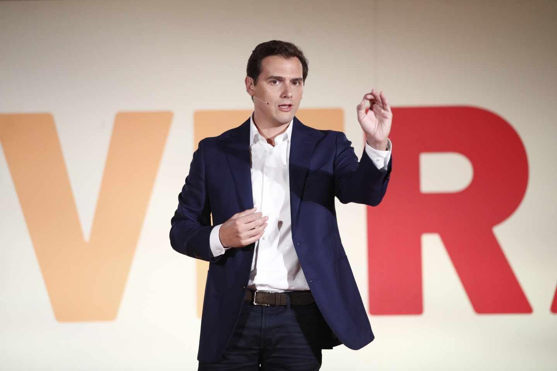 El líder de Ciudadanos, Albert Rivera, en el acto de presentación de candidatos.