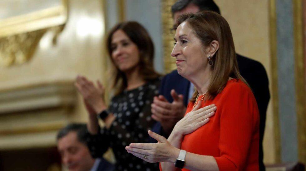 Ana Pastor, durante el cierre de legislatura en el Congreso de los Diputados.