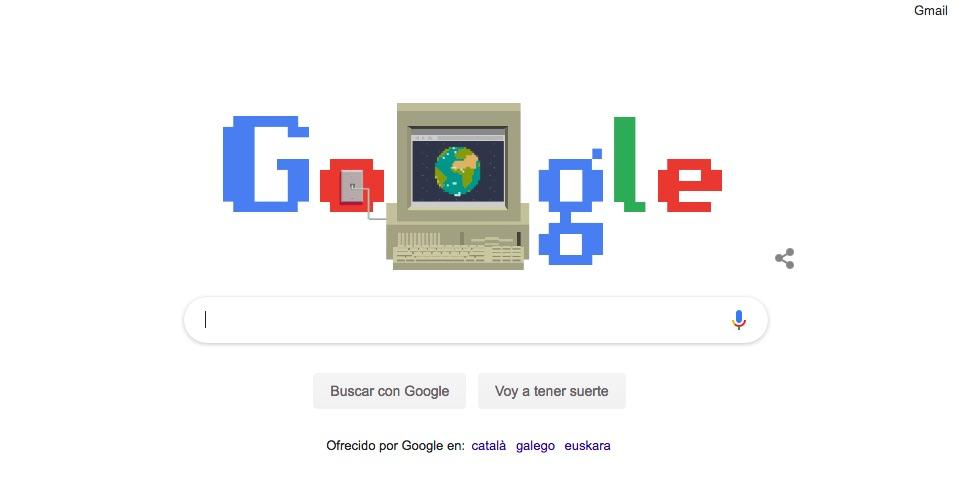 Doodle del aniversario de la webDoodle del aniversario de la web