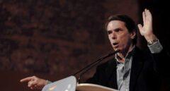 El expresidente del Gobierno, José María Aznar, durante su discurso en Valencia.