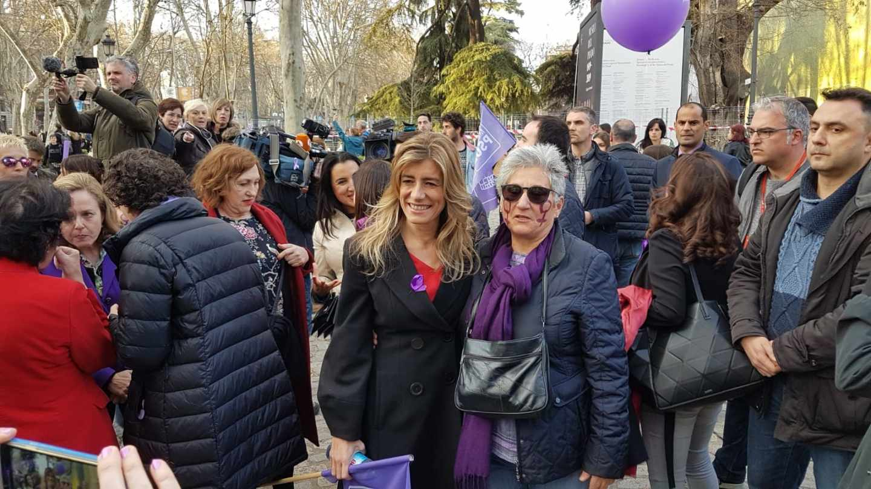 Manifestación del 8-M: Begoña Gómez, esposa de Pedro Sánchez.