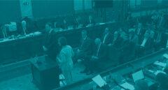 El banquillo del juicio del procés, antes de la declaración de Oriol Junqueras.