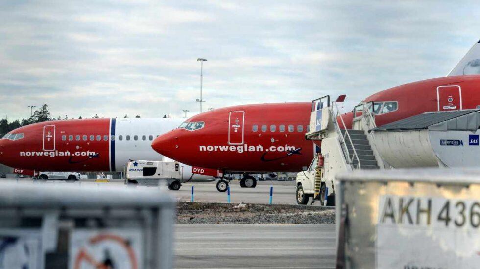 Aviones Boeing 737 de Norwegian Airlines.