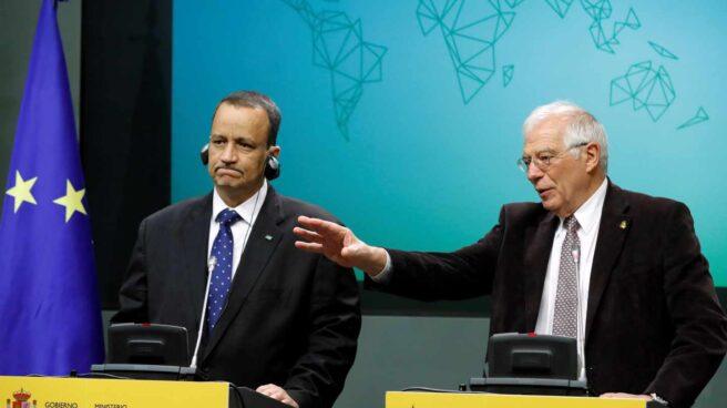 Josep Borrell, junto al ministro de Exteriores de Mauritania.