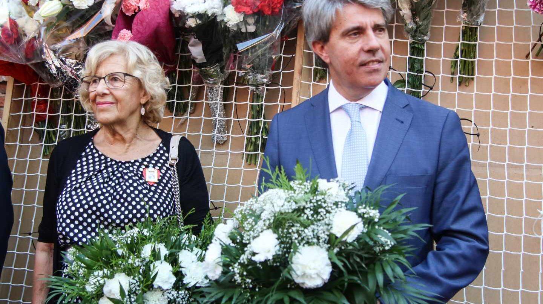 Ofrenda floral en las fiestas de La Paloma de Madrid, en agosto de 2018.