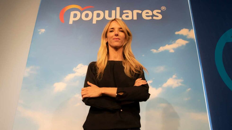 Cayetana Álvarez de Toledo en la sede del PP
