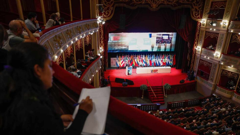 El Congreso de la Lengua Española, durante una de sus sesiones.