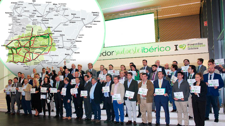 Las principales empresas extremeñas estarán este jueves en Madrid en el Foro por el Corredor Sudoeste Ibérico.