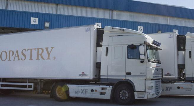Transporte de Europastry, líder en España en masas congeladas.