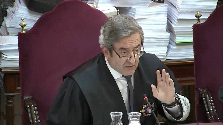 El fiscal del Tribunal Supremo Javier Zaragoza, en una de las sesiones del juicio del 'procés'.