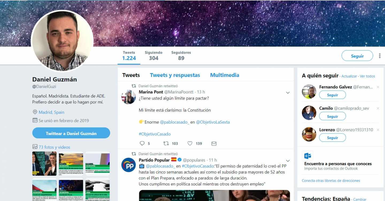 Acusan al PP de usar una cuenta falsa en Twitter con la foto de un muerto