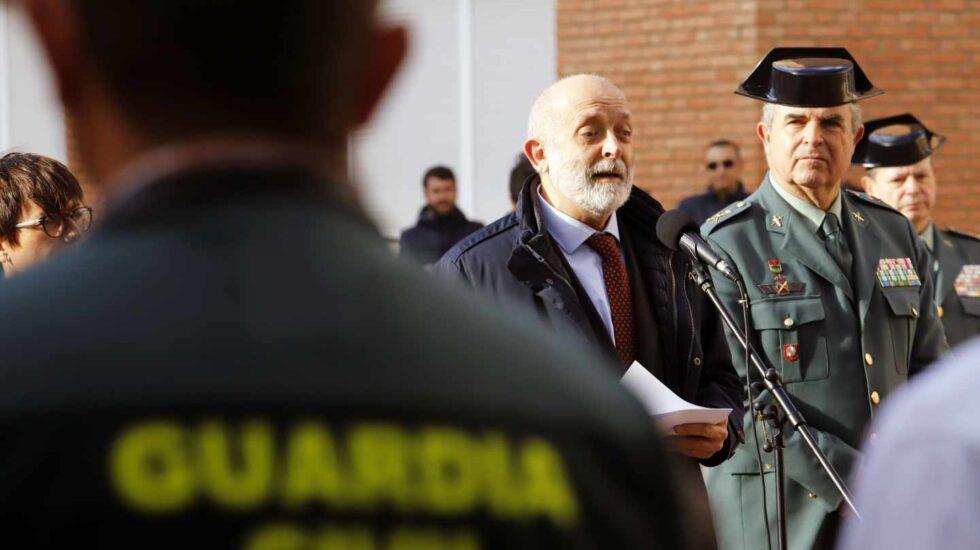 Félix Azón, en el acto de reconocimiento a los guardias civiles que participaron en el operativo de rescate de Julen.