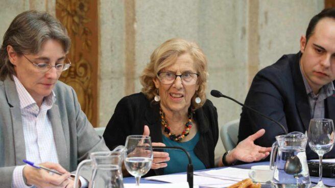 Higueras y Carmena el pasado marzo en rueda de prensa