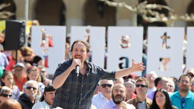 Pablo Iglesias, en un acto en Pamplona.