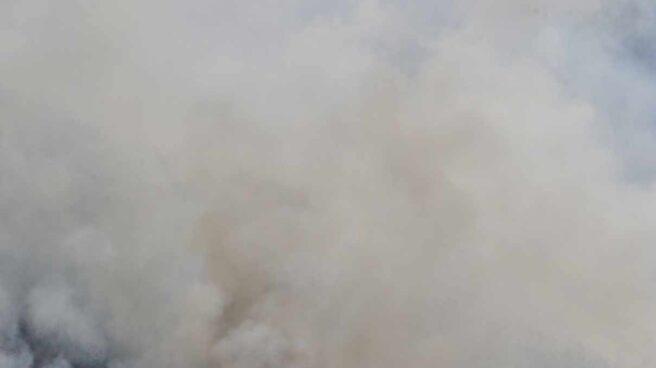 Incendio en la localidad asturiana de Soto de los Infantes.