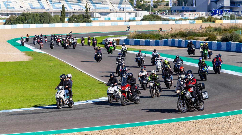 Motociclistas en Jerez.