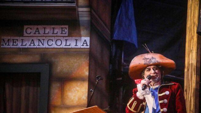 Joaquín Sabina, pregonero en el carnaval de Cádiz.