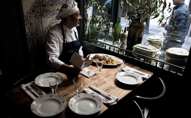 José Nieto, cocinero de El Quijote en el restaurante La Carmencita