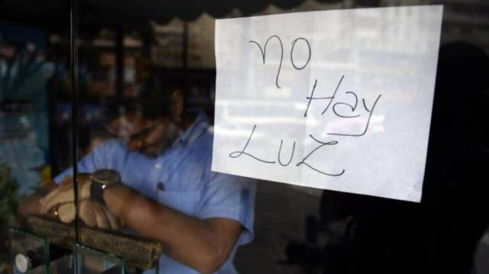 Apagón en Venezuela.